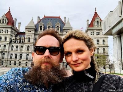 Mandatory selfie. New York state capitol building.