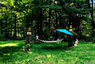 Our hammock area.