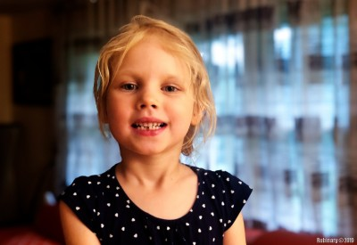 Anna's first tooth.