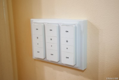 3D printed plate for Hue Dimmer switches.