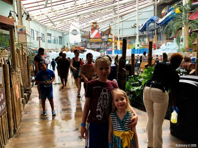 Kids inside Camelback water park.