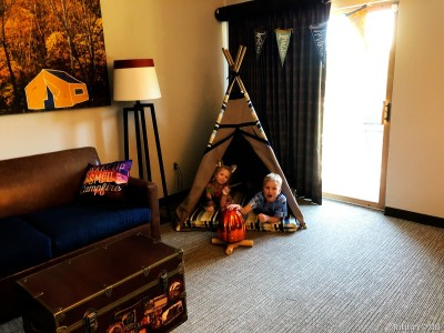 Our room at Great Wolf Lodge.