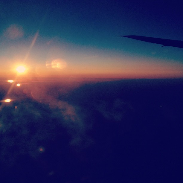 Over Alaska (via Instagram)