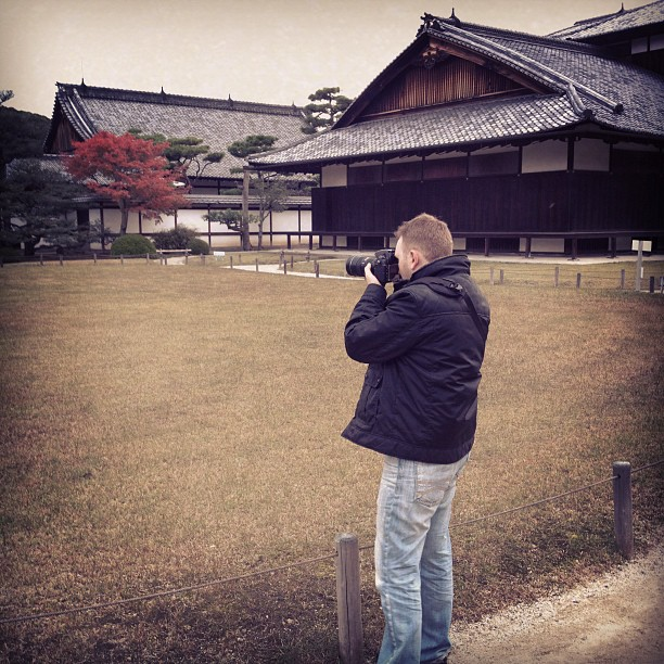 At Nijo Castle (via Instagram)