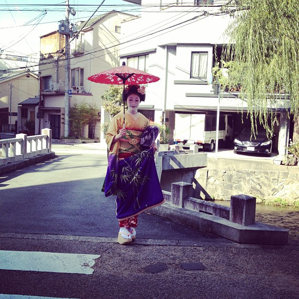 Geisha in Gion (via Instagram)