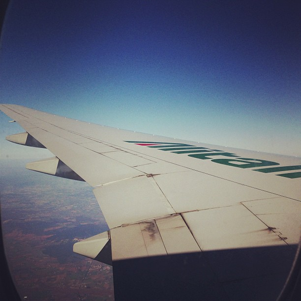 Over Italy (via Instagram)