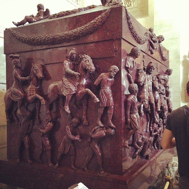 Sarcophagus of St. Helena (via Instagram)
