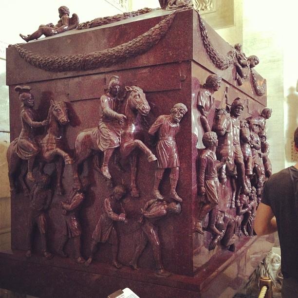 Sarcophagus of St. Helena (via Instagram)