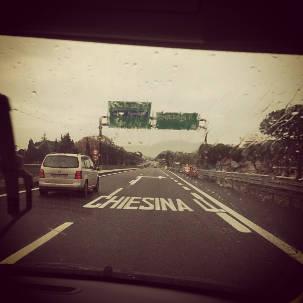 Road to Pisa (via Instagram)