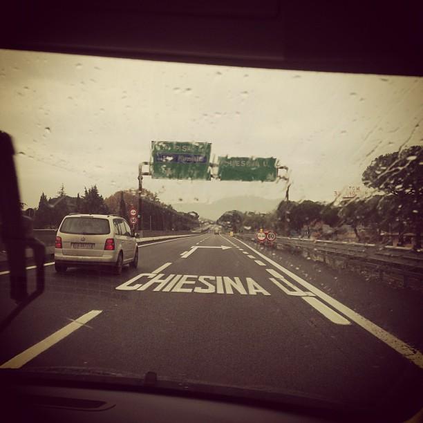 Road to Pisa (via Instagram)