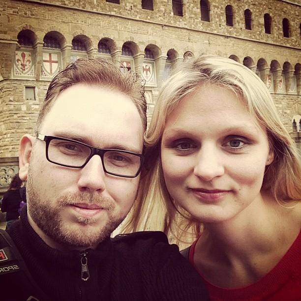 At Uffizi (via Instagram)