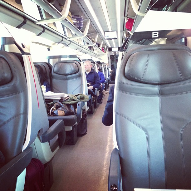 Inside The Train (via Instagram)