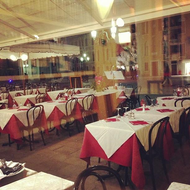 Dinner in Venice (via Instagram)