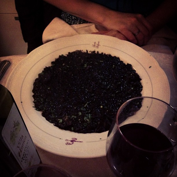 Risotto with Black Ink (via Instagram)