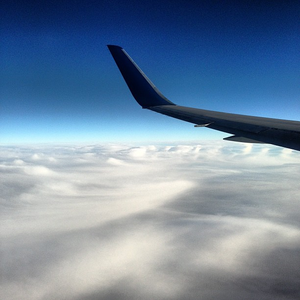 Flying Home (via Instagram)