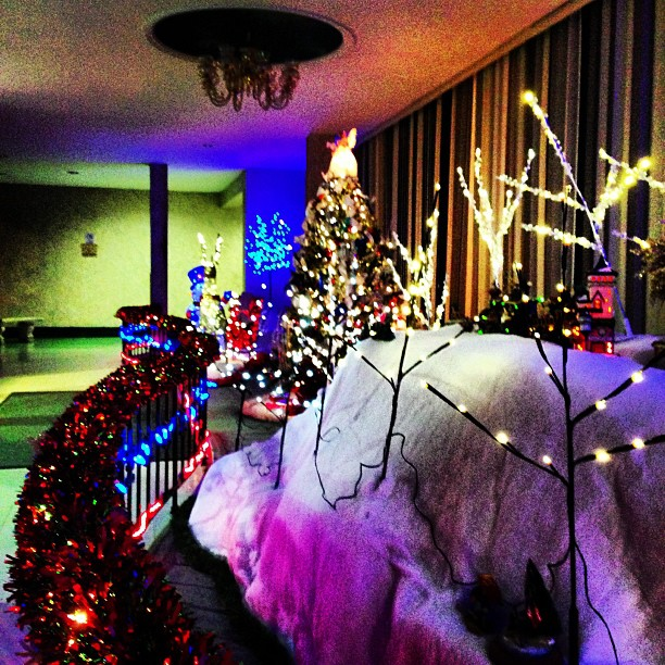 Lobby Decorations (via Instagram)