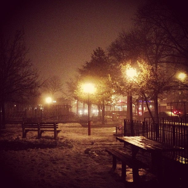 Foggy Winter Night (via Instagram)