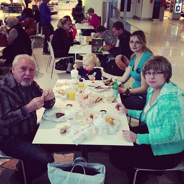 Airport Breakfast (via Instagram)