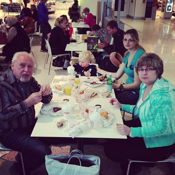 Airport Breakfast (via Instagram)