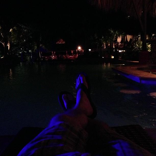 Relaxing (via Instagram)