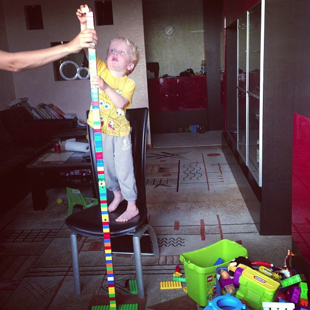 Mega Lego Tower (via Instagram)
