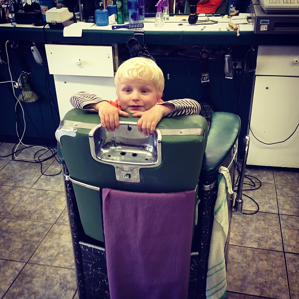 Waiting for Haircut (via Instagram)