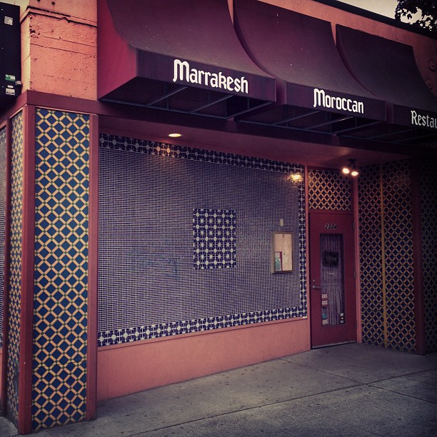 Dinner at Moroccan (via Instagram)