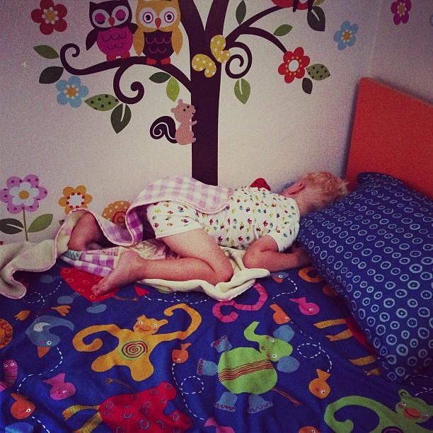 Sleeping (via Instagram)