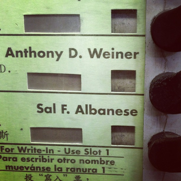 Schmuck Gets My Vote (via Instagram)