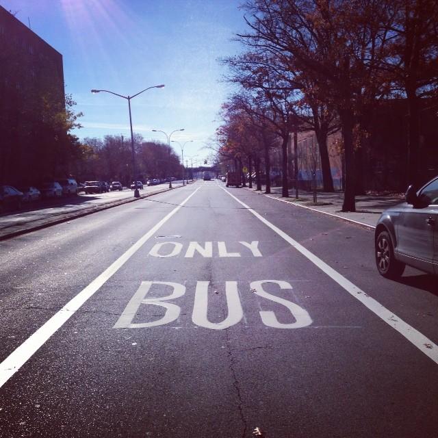 New Bus Only Lane (via Instagram)