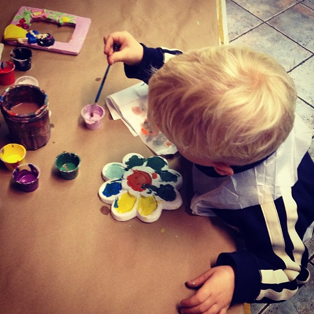 Painting a Flower (via Instagram)