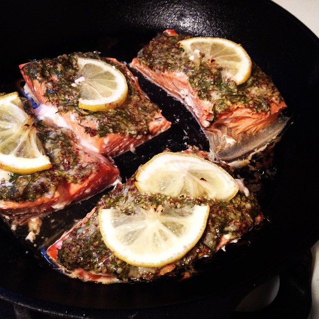 Salmon with Mustard & Dill