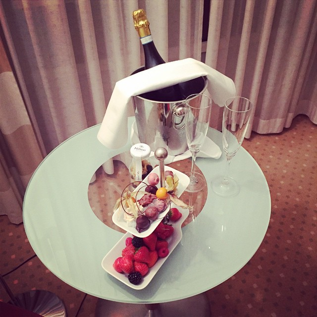 Champagne From Hilton