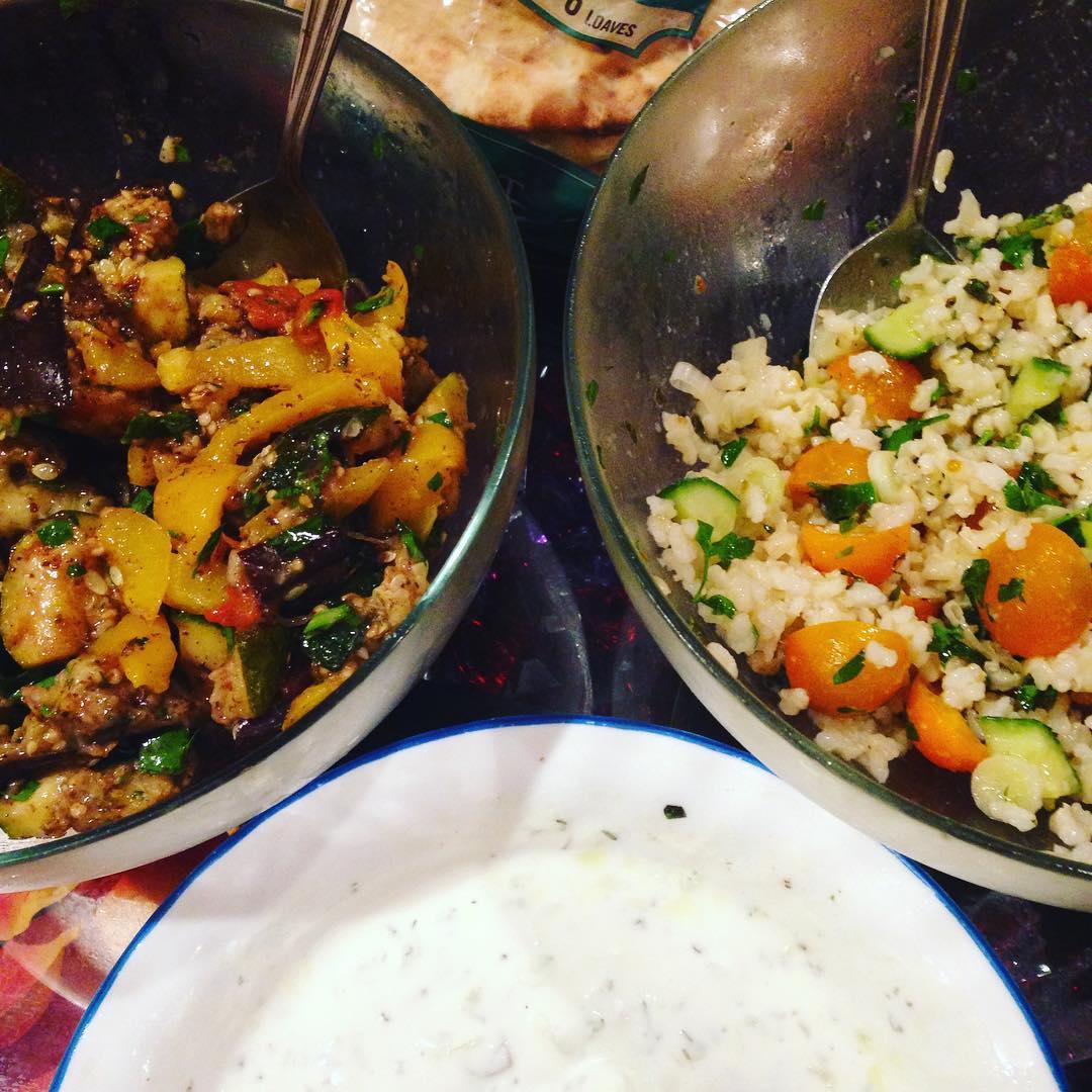 Eggplants & Tabbouleh