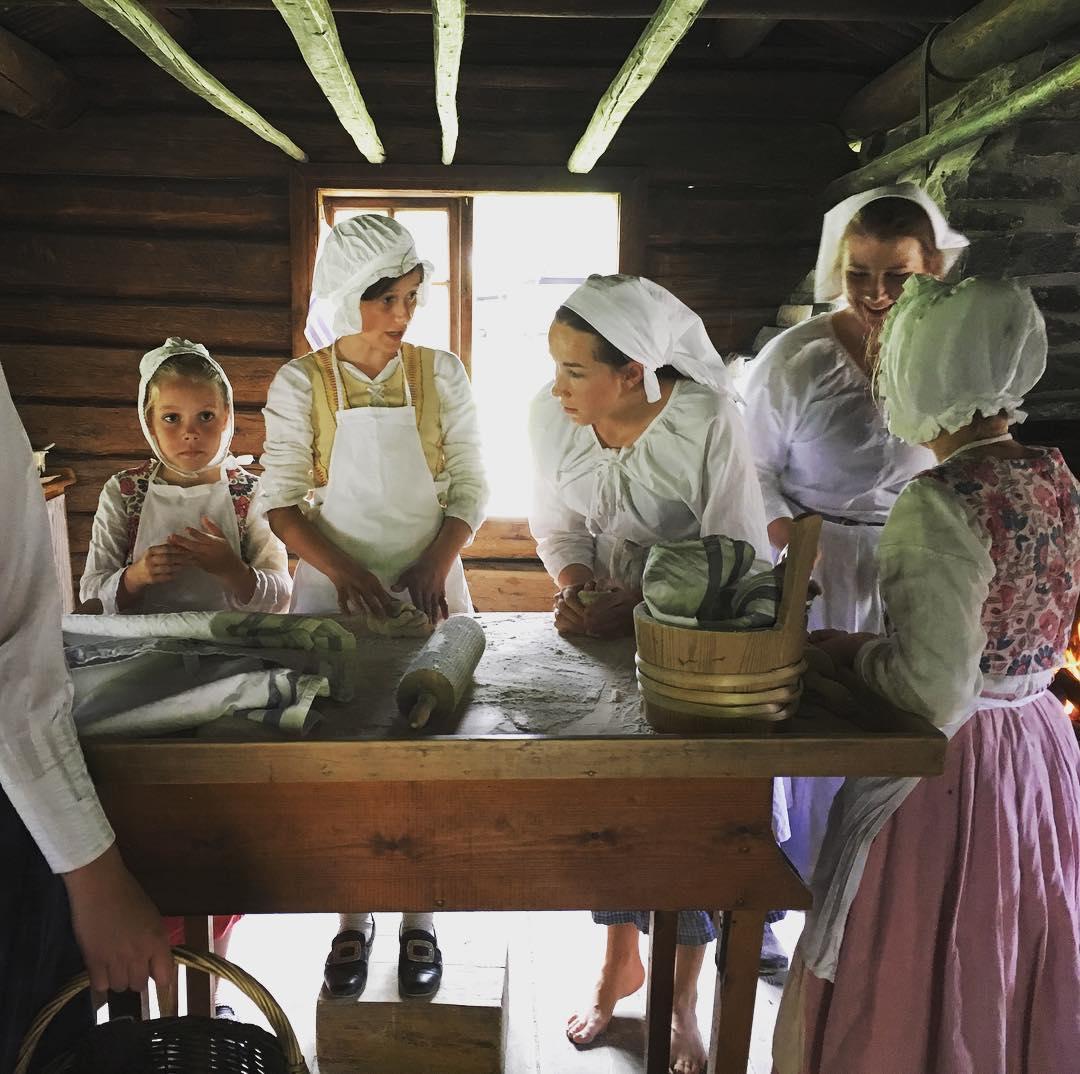 Baking of Lefse