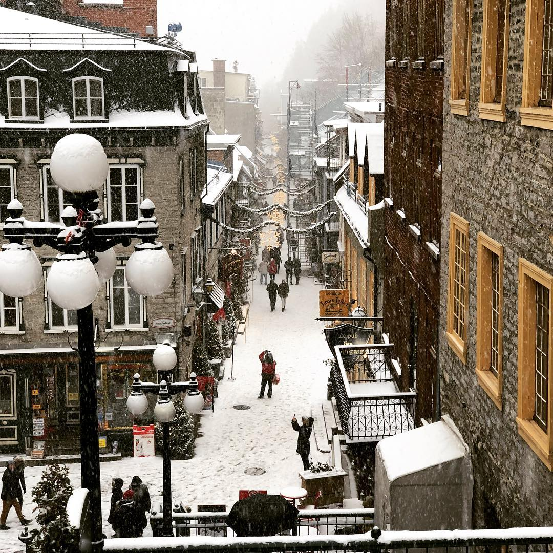 Snow in Quebec