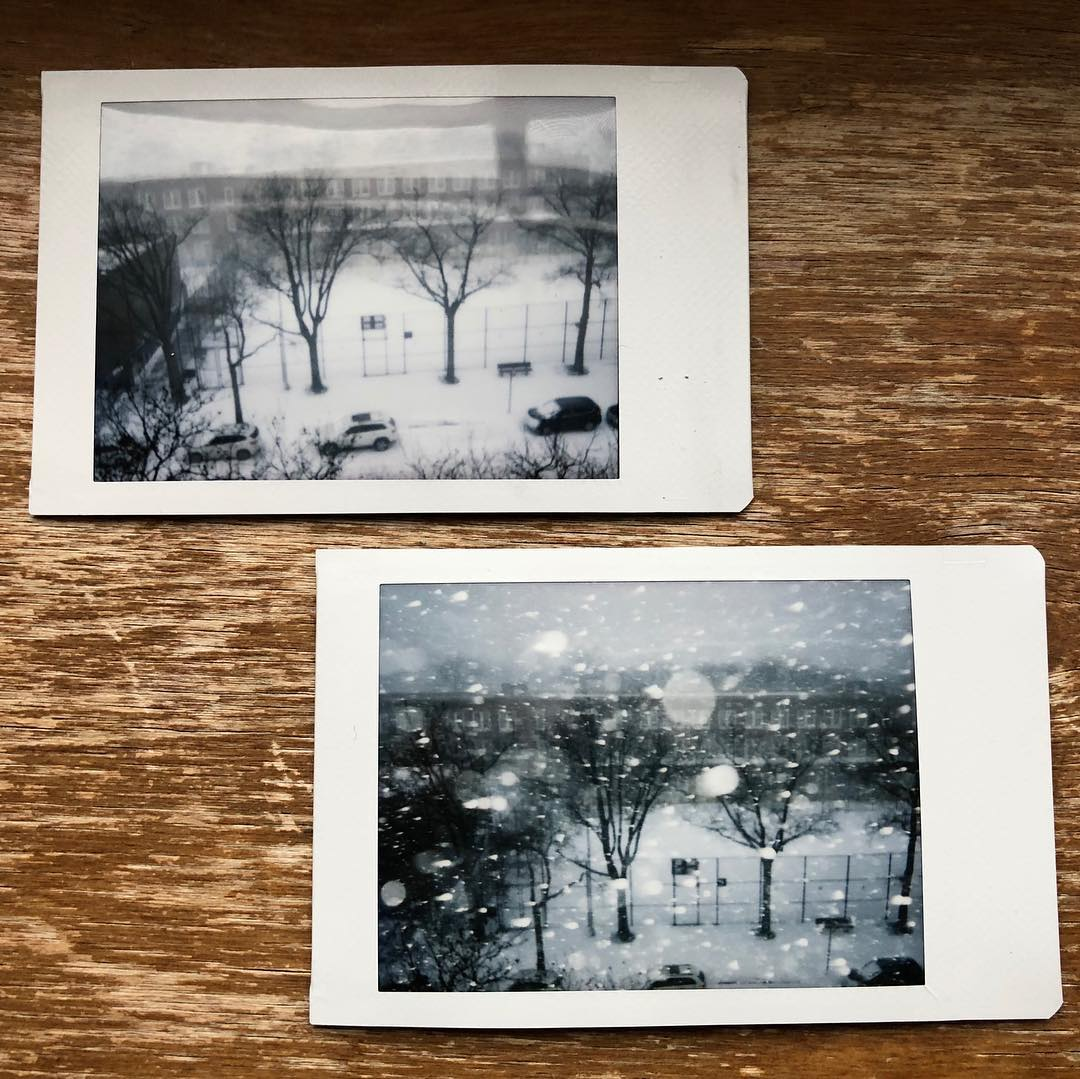 Son's Instax Snow Shots