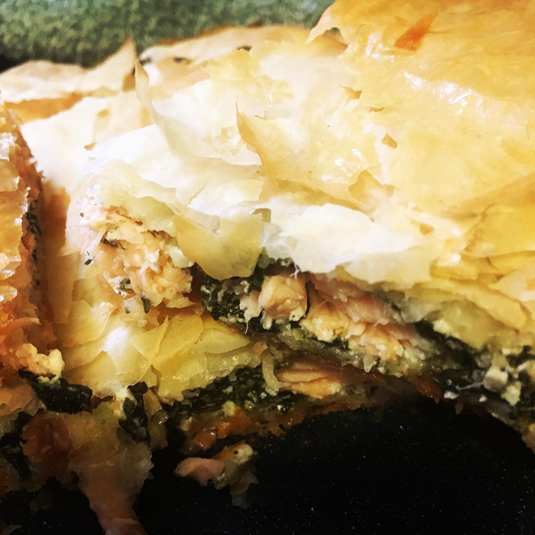 Spinach & Salmon Pie