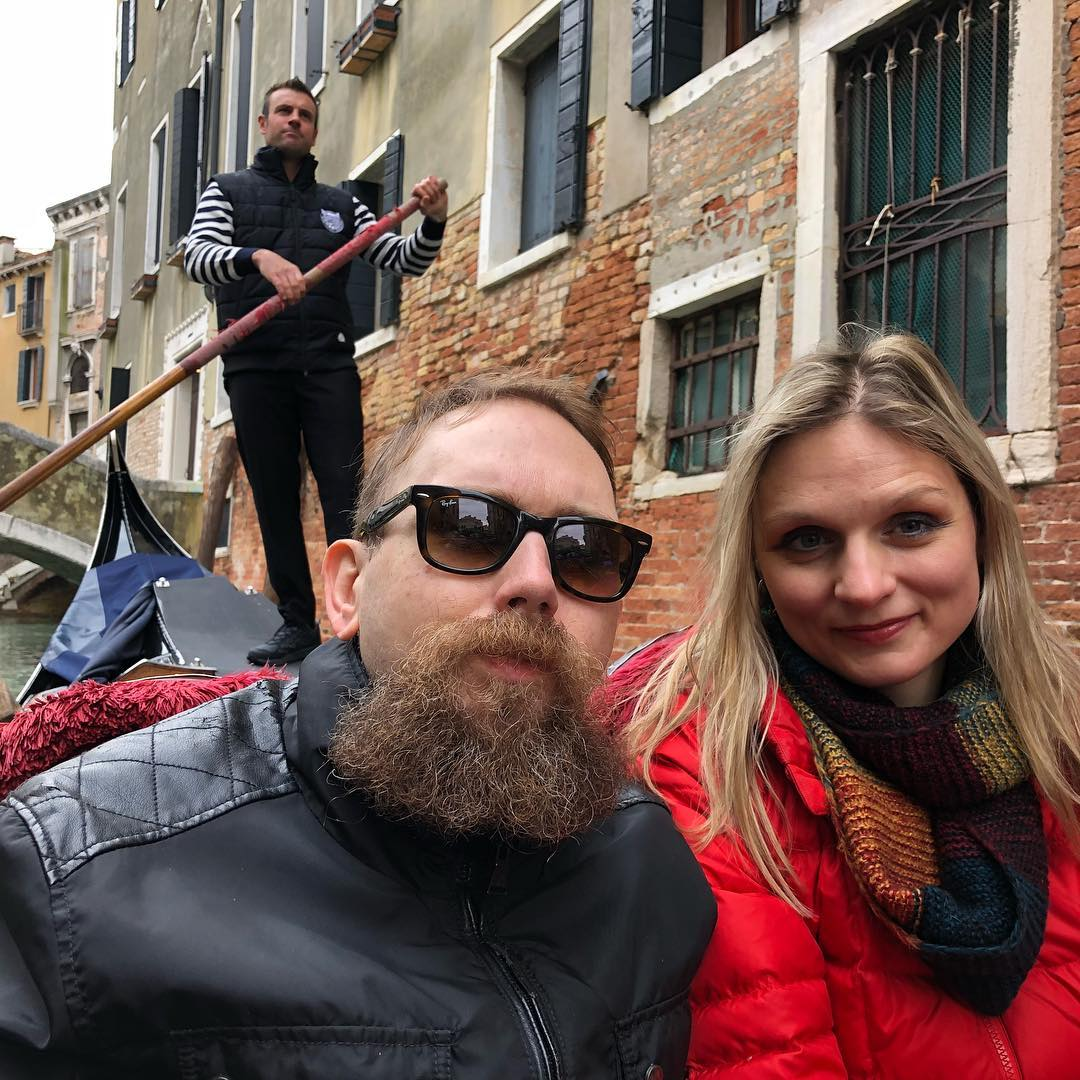 With Gondolier Working