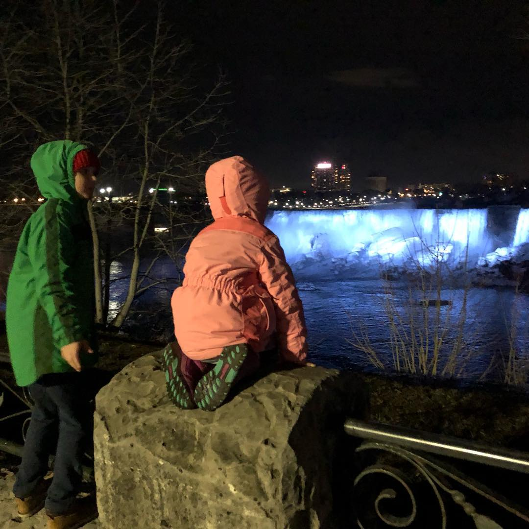 Looking At The Falls
