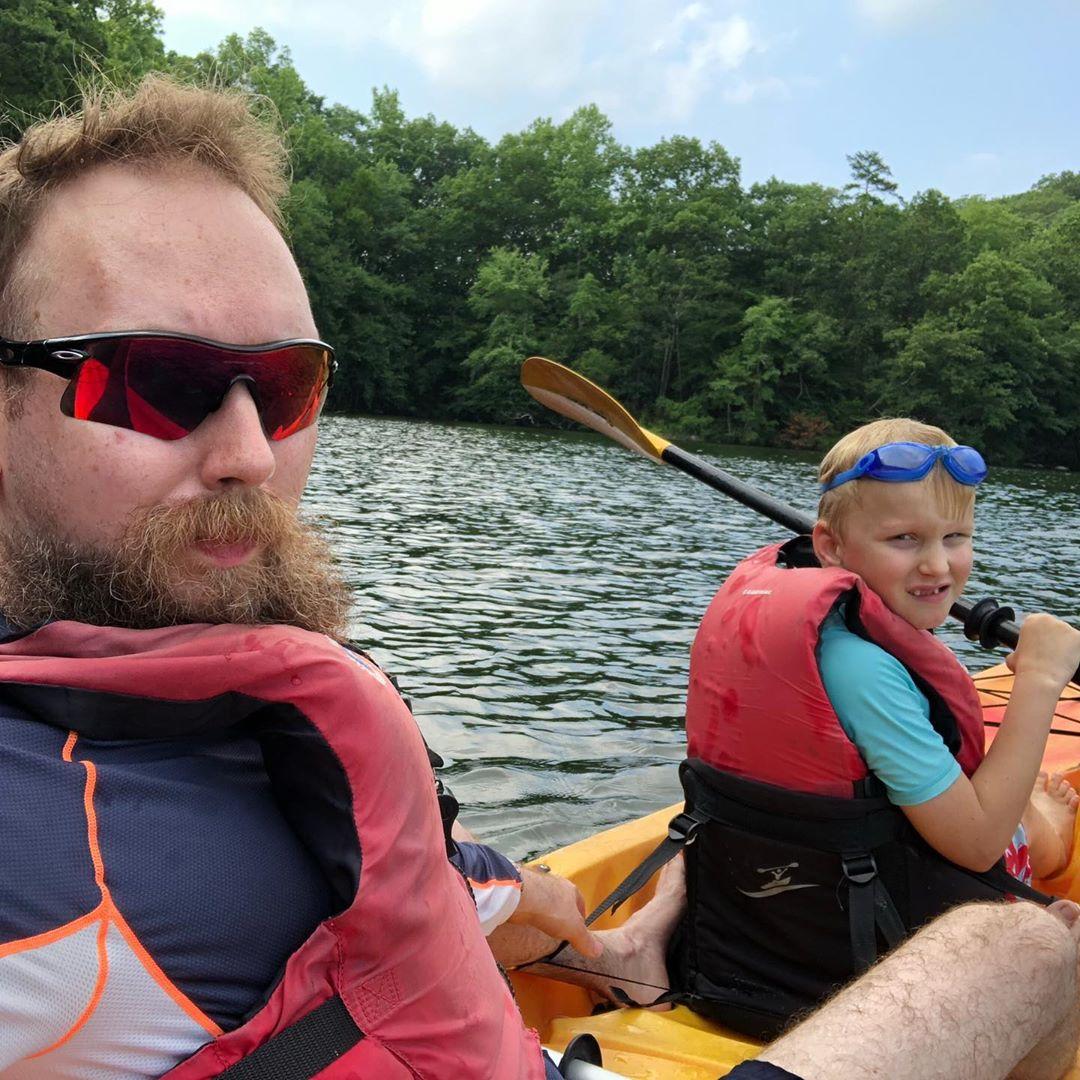 Kayaking at Martin Pond