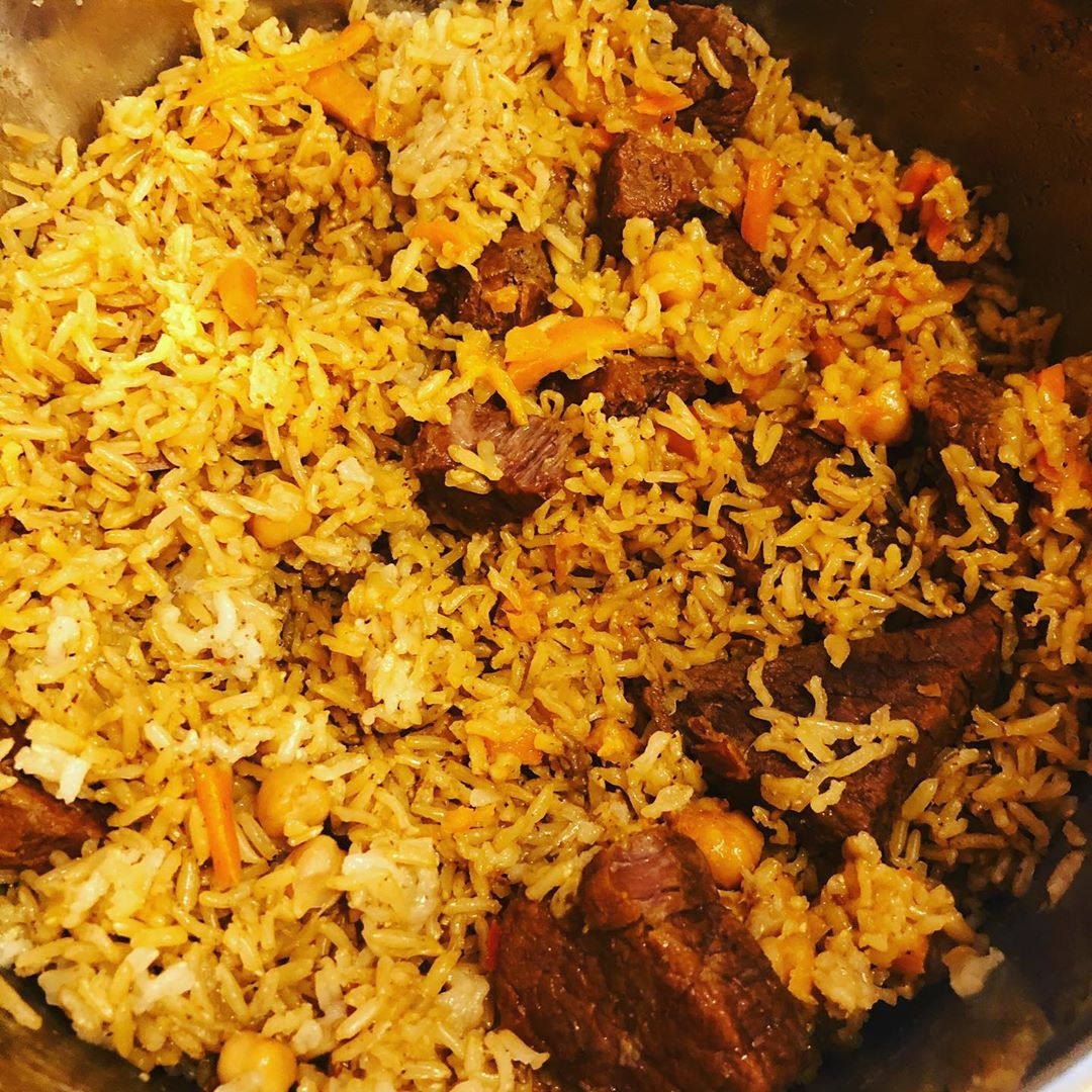 Instant Pot Brown Rice Plov